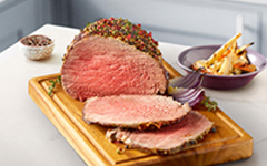 Roast Beef with Peppercorn Crust